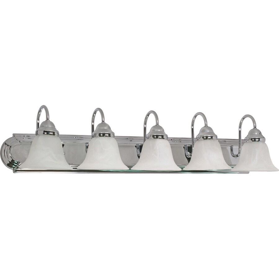 5-Light Polished Chrome Vanity Light