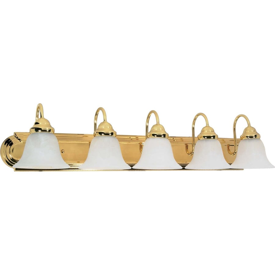Shop 5 Light Polished Brass Vanity Light At
