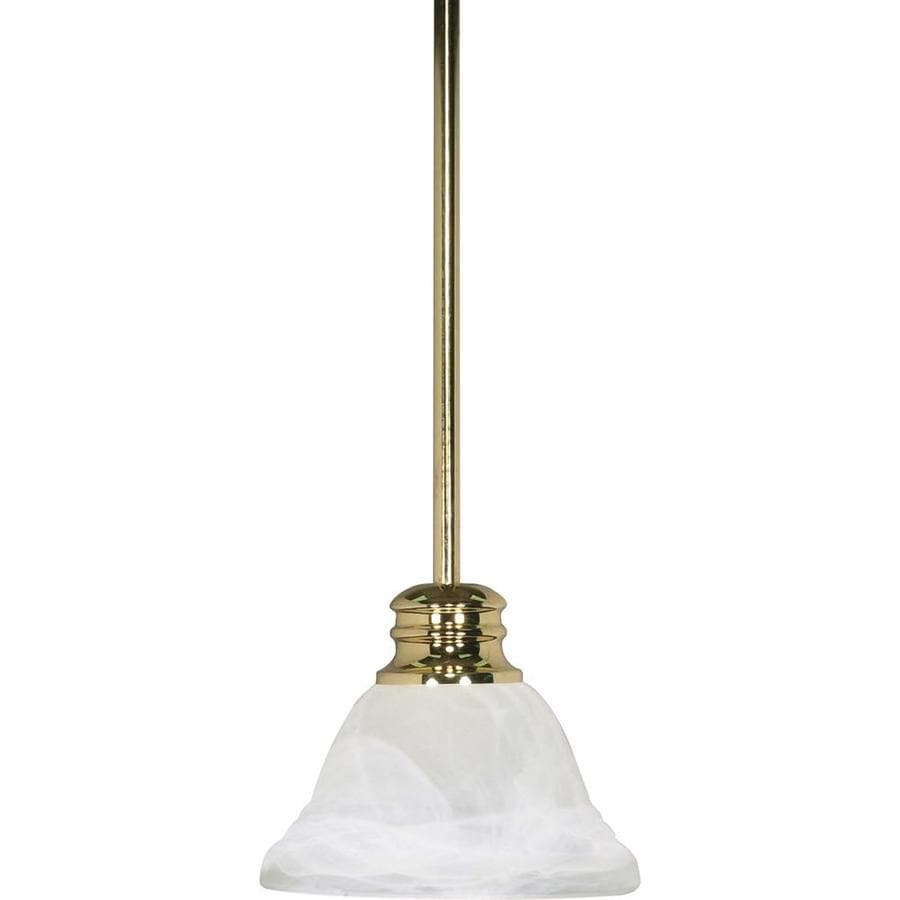 Empire 13-in Polished Brass Mini Bell Pendant