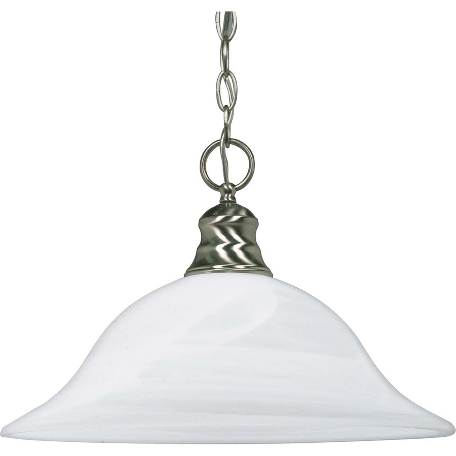Rockport Tuscano 17.5-in Brushed Nickel Single Bell Pendant
