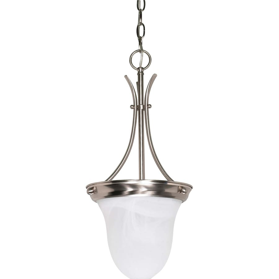 Tuscano 10-in Brushed Nickel Mini Bell Pendant