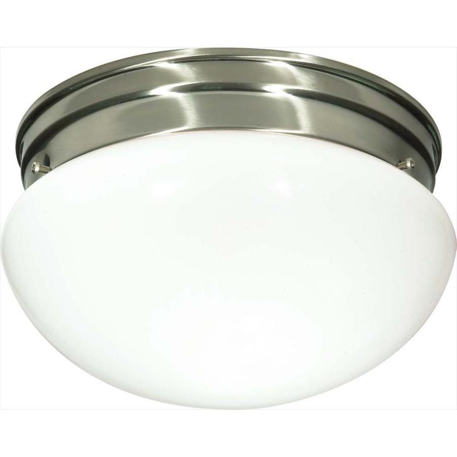 10-in W Brushed Nickel Ceiling Flush Mount Light