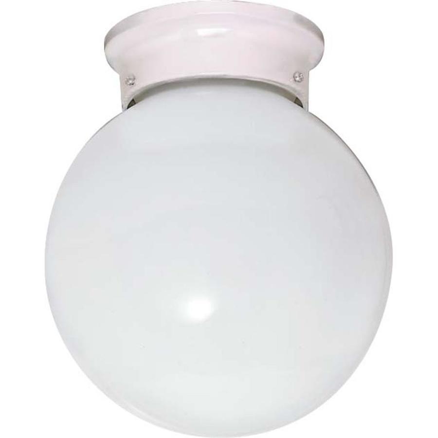 8-in W White Ceiling Flush Mount Light