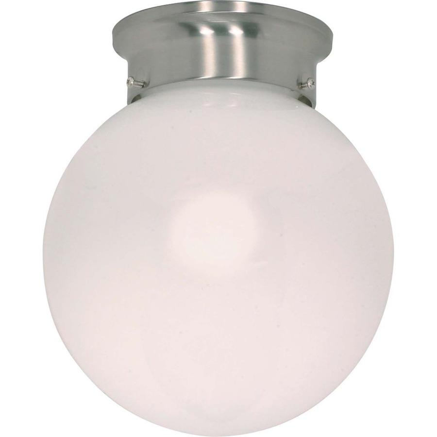 8-in W Brushed Nickel Ceiling Flush Mount Light