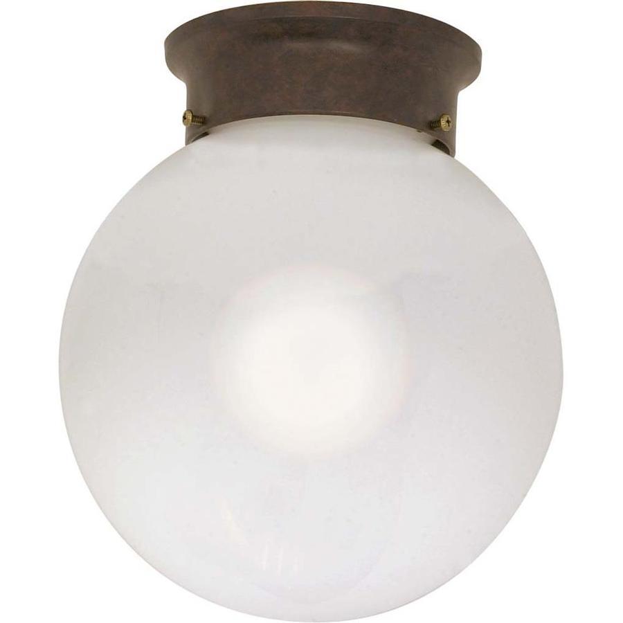 8-in W Old Bronze Ceiling Flush Mount Light