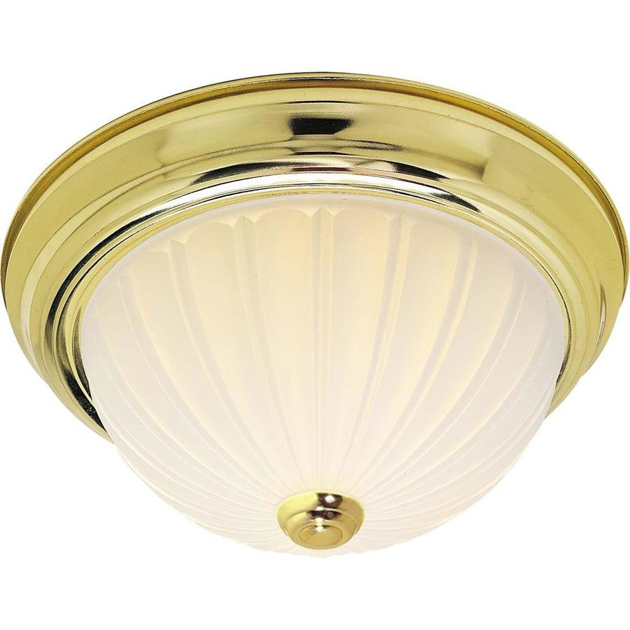 13-in W Polished Brass Ceiling Flush Mount Light