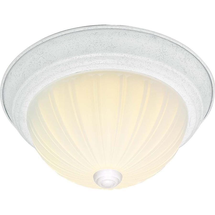 13-in W White Ceiling Flush Mount Light