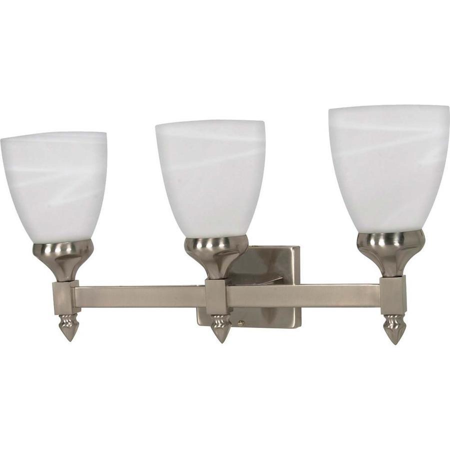 Triumph 3-Light Brushed Nickel Vanity Light