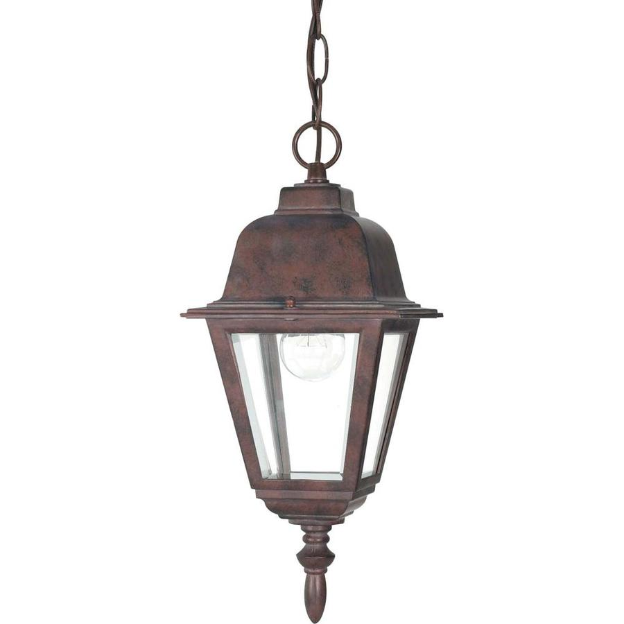 15.44-in W Old Bronze Outdoor Flush-Mount Light