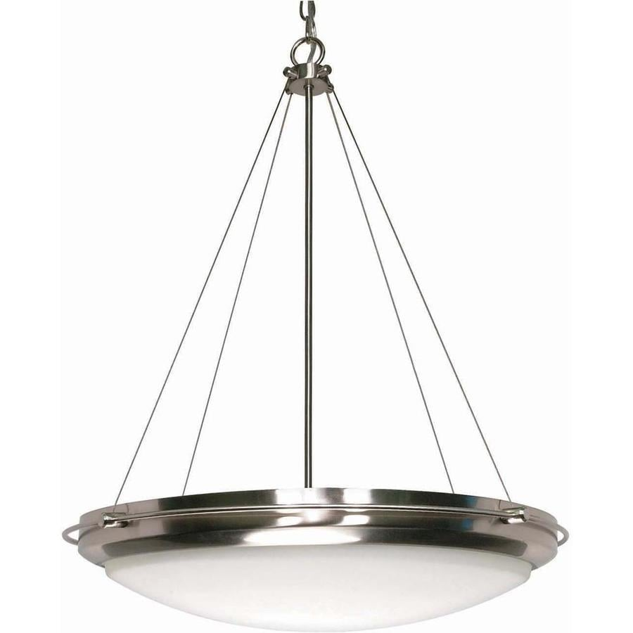 Polaris 26.37-in Brushed Nickel Mini Bell Pendant
