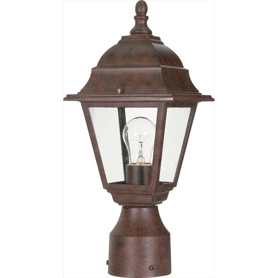 14.64-in W Old Bronze Outdoor Flush-Mount Light