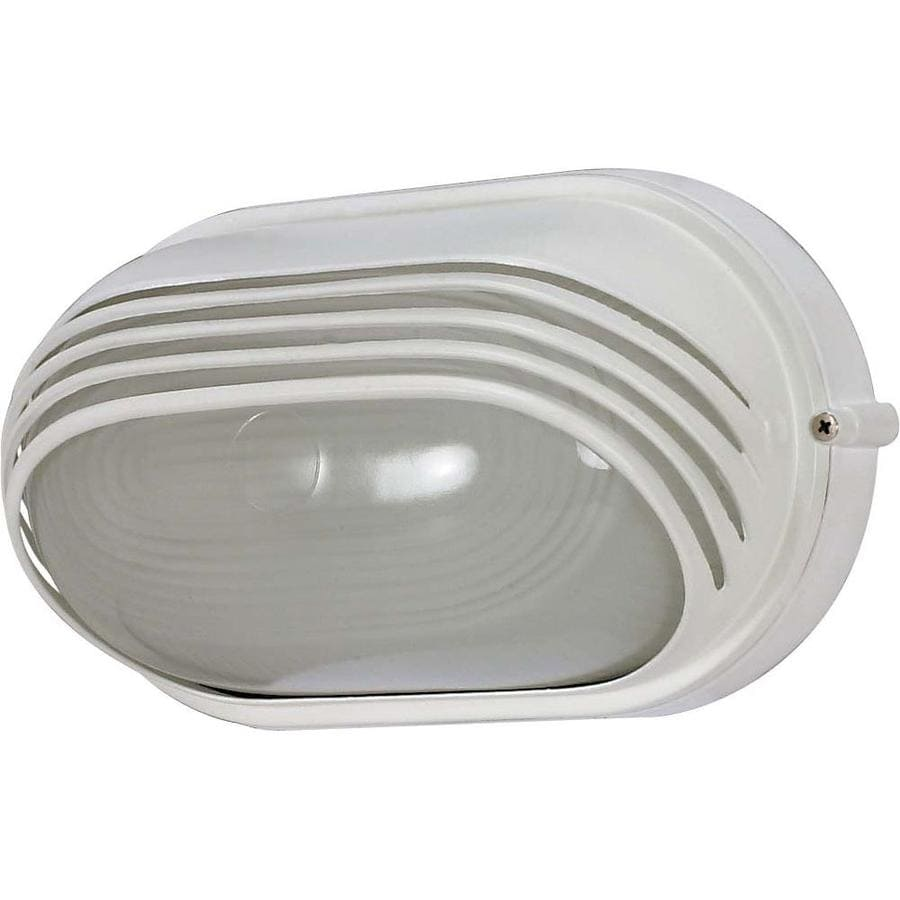 20.71-in H Semi Gloss White Outdoor Wall Light