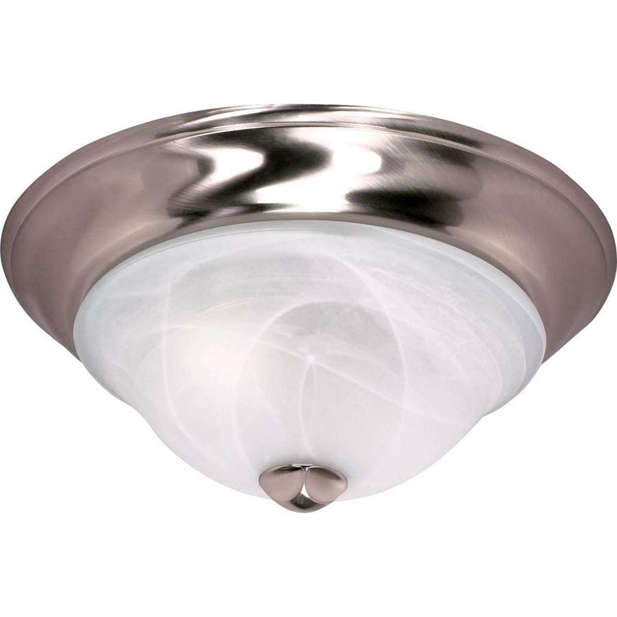 13-in W Brushed Nickel Ceiling Flush Mount Light