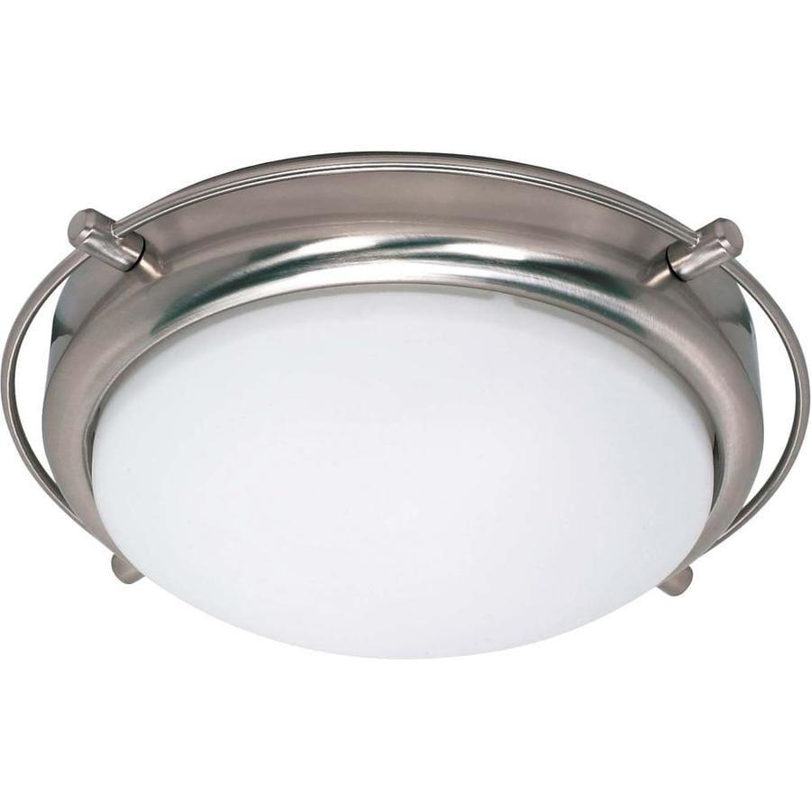 13.5-in W Brushed Nickel Ceiling Flush Mount Light