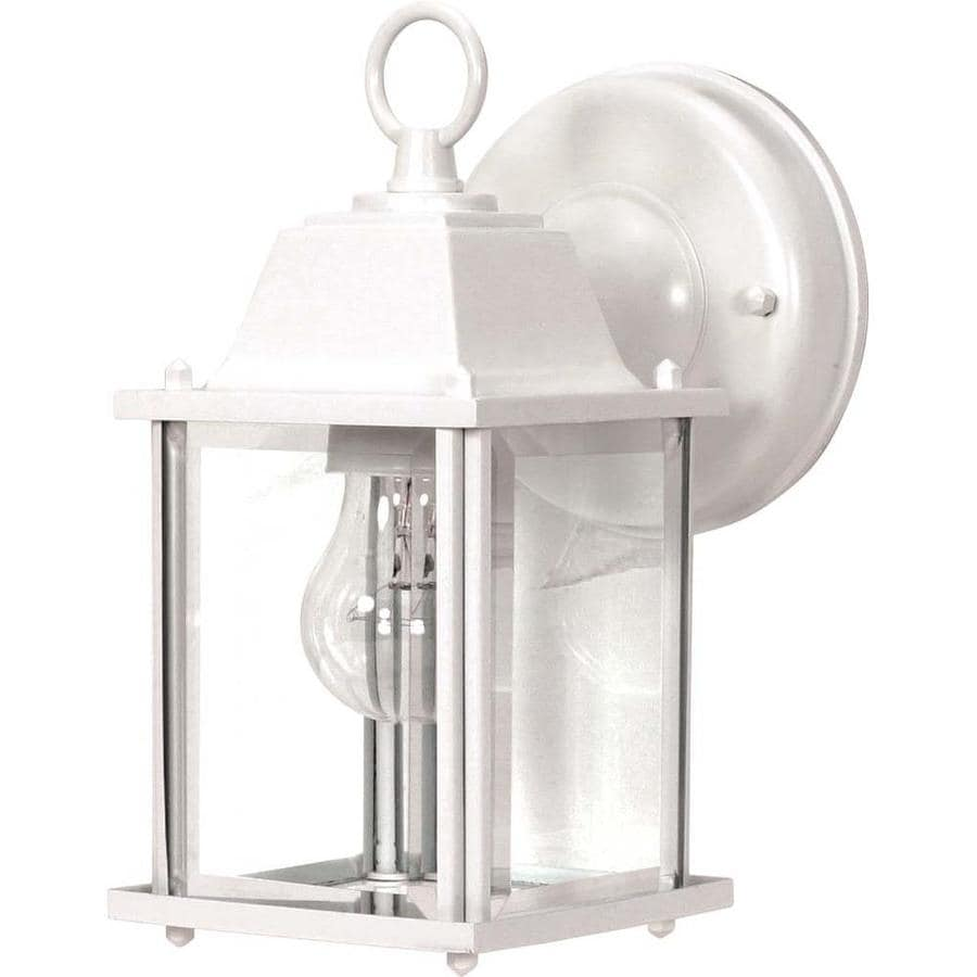 10.78-in H White Outdoor Wall Light