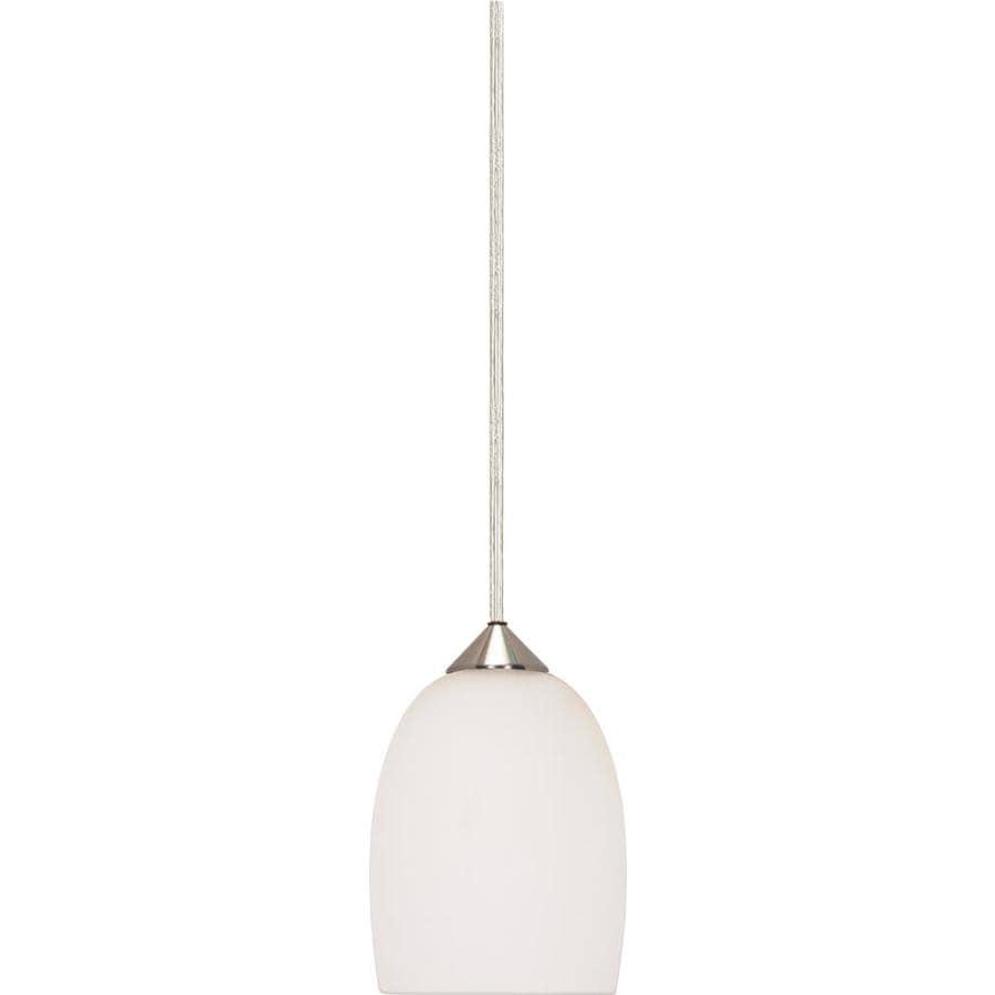 Milano 14-in Brushed Nickel Mini Bell Pendant
