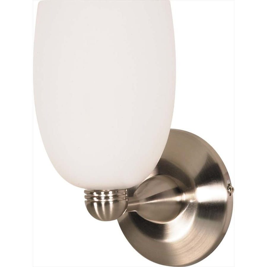 Castillo 13.85-in W 1-Light Brushed Nickel Arm Hardwired Wall Sconce