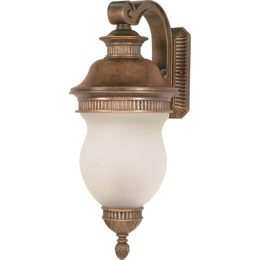 23.52-in H Platinum Gold Brass Outdoor Wall Light