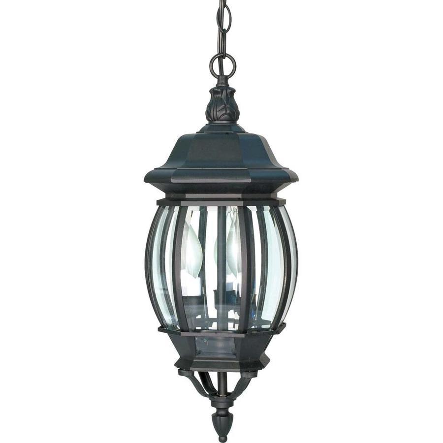 10.29-in W Textured Black Outdoor Flush-Mount Light