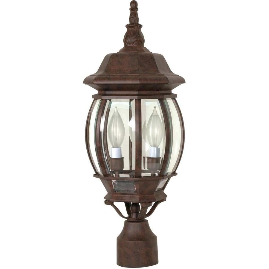 18.75-in W Old Bronze Outdoor Flush-Mount Light