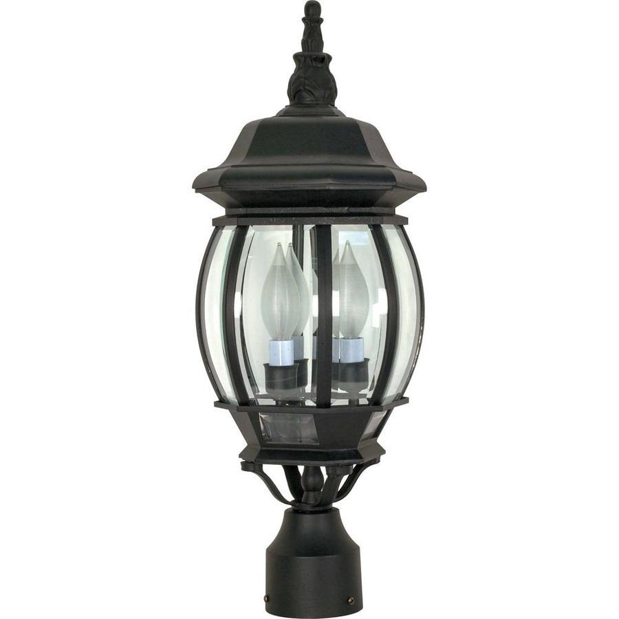 18.75-in W Textured Black Outdoor Flush-Mount Light