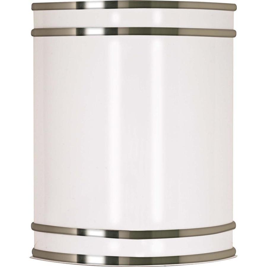 Castillo 12.48-in W 1-Light Brushed Nickel Pocket Wall Sconce