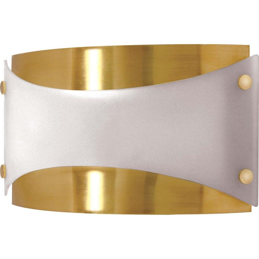 Castillo 15.07-in W 1-Light Brushed Brass Pocket Wall Sconce