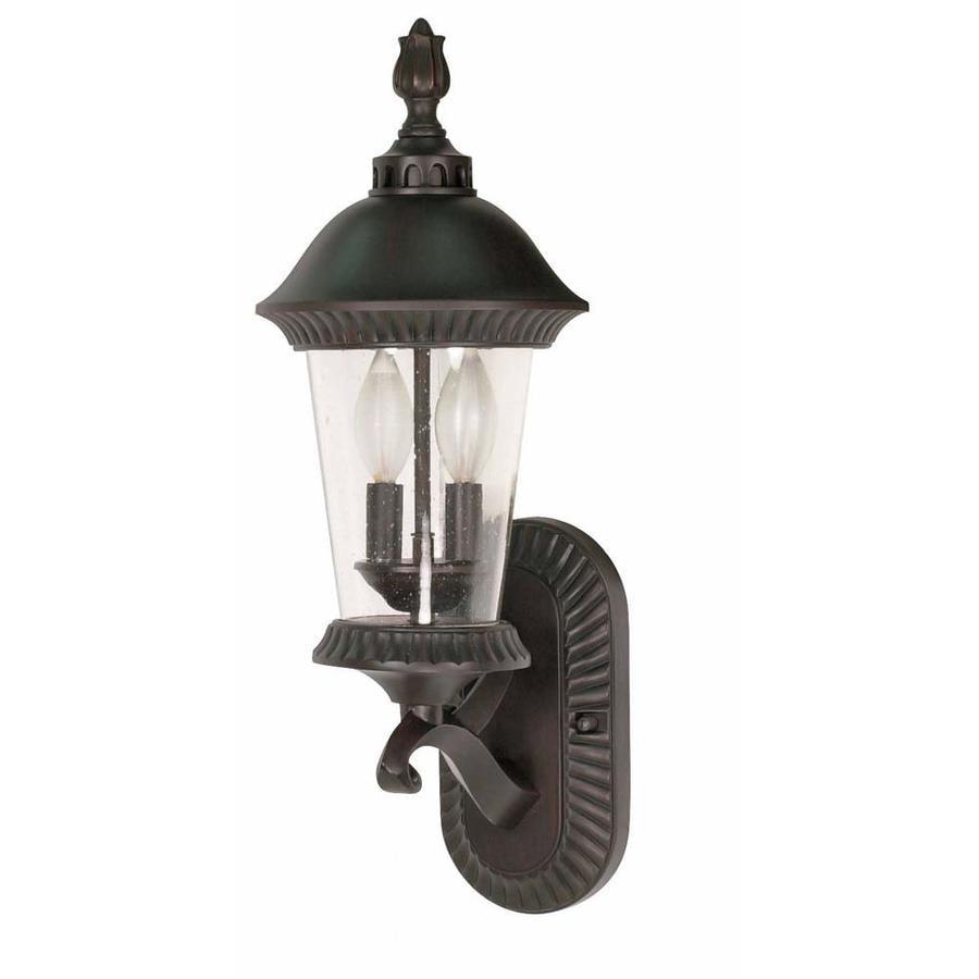 15.93-in H Chestnut Bronze Outdoor Wall Light