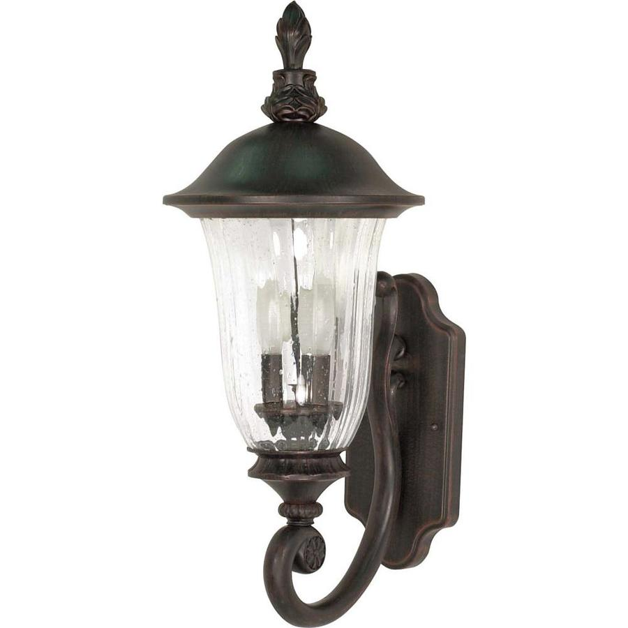 16.66-in H Old Penny Bronze Outdoor Wall Light