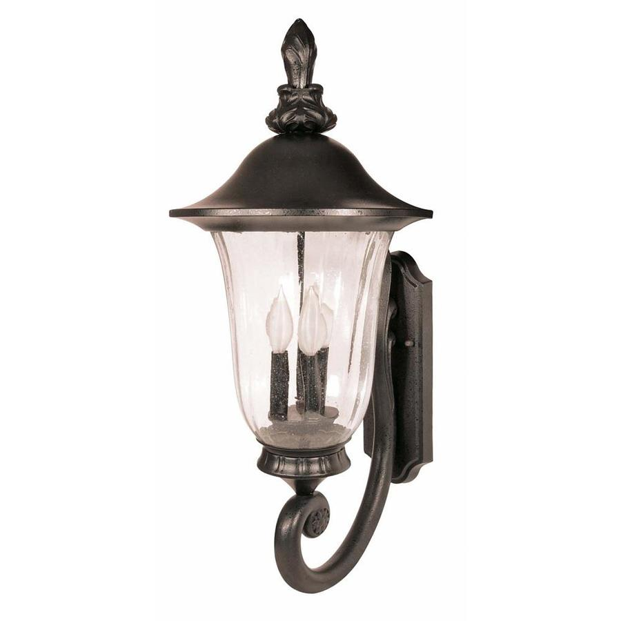 21.07-in H Textured Black Outdoor Wall Light