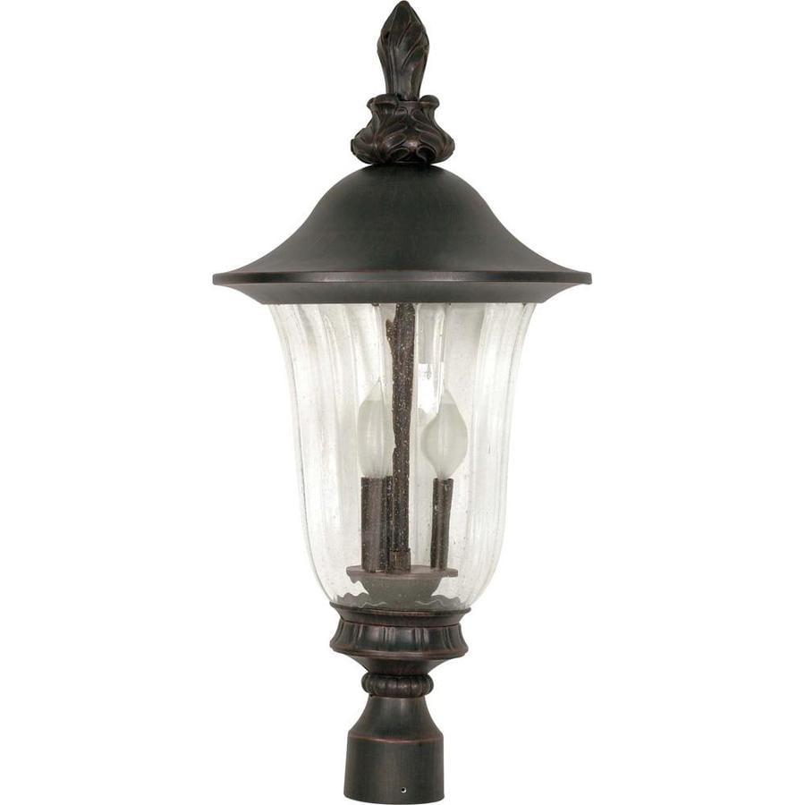11.15-in W Textured Black Outdoor Flush-Mount Light