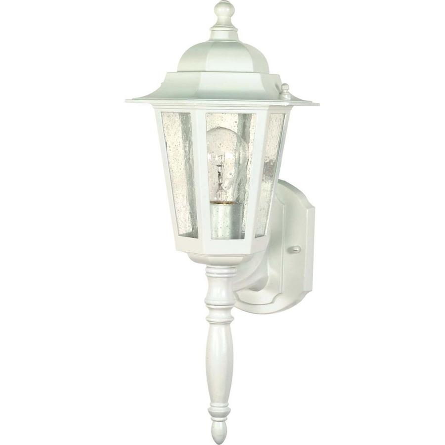 12-in H White Outdoor Wall Light