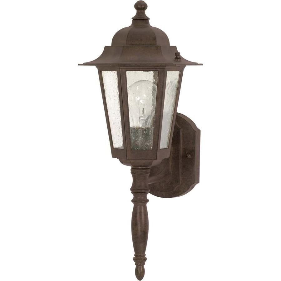 12-in H Old Bronze Outdoor Wall Light