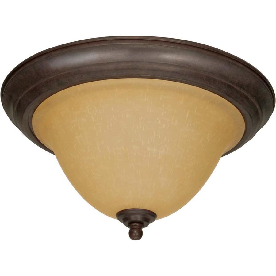15.25-in W Sonoma Bronze Ceiling Flush Mount Light