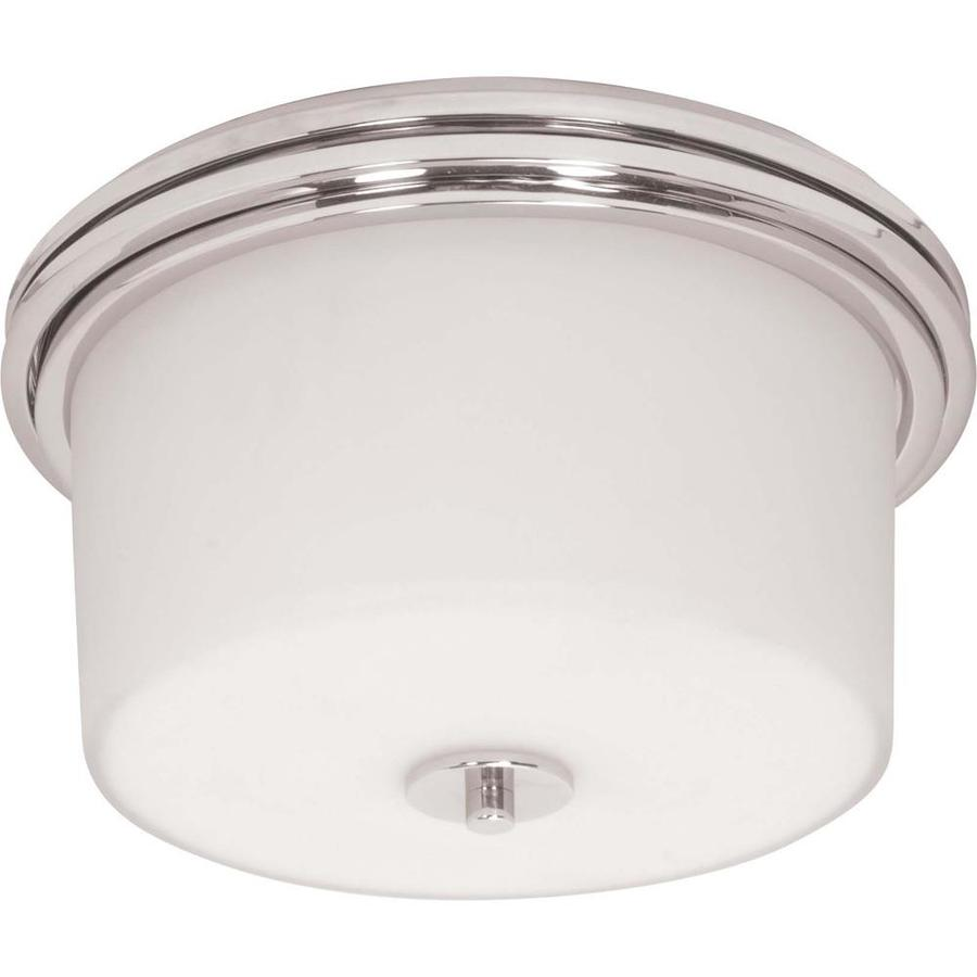 12.75-in W Polished Chrome Ceiling Flush Mount Light