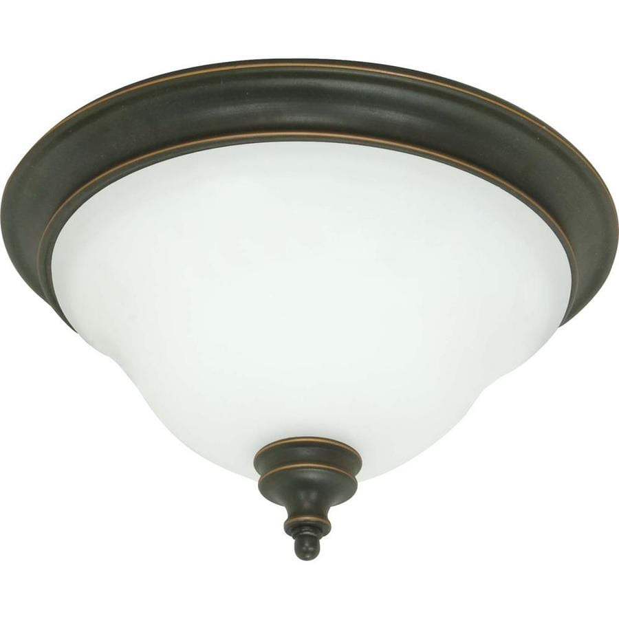14.25-in W Rustic Bronze Ceiling Flush Mount Light