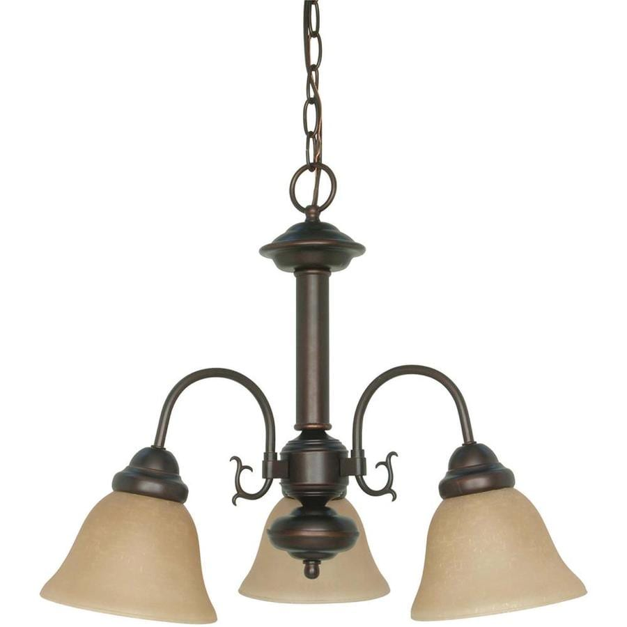 Edith 20-in 3-Light Mahogany Bronze Candle Chandelier