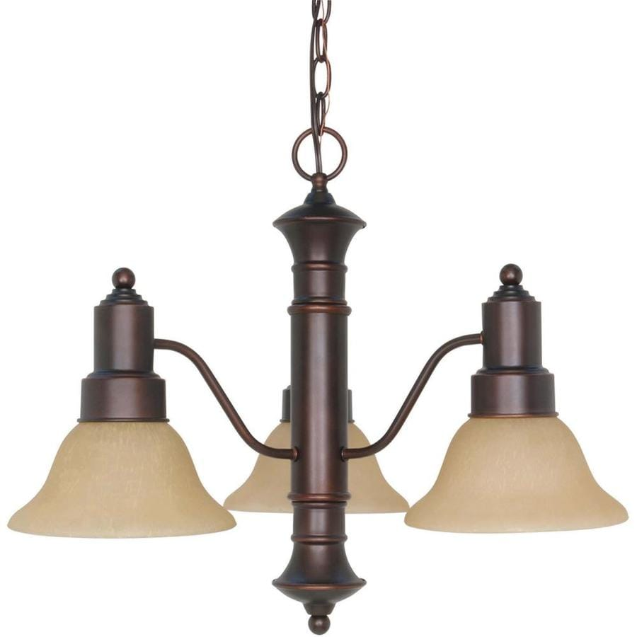 Gotham 22.5-in 3-Light Mahogany Bronze Candle Chandelier