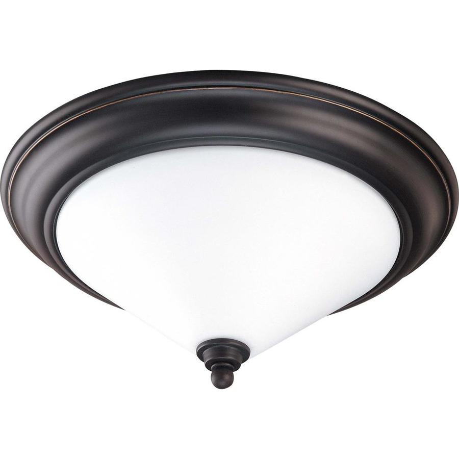 15.75-in W Mission Dust Bronze Ceiling Flush Mount Light
