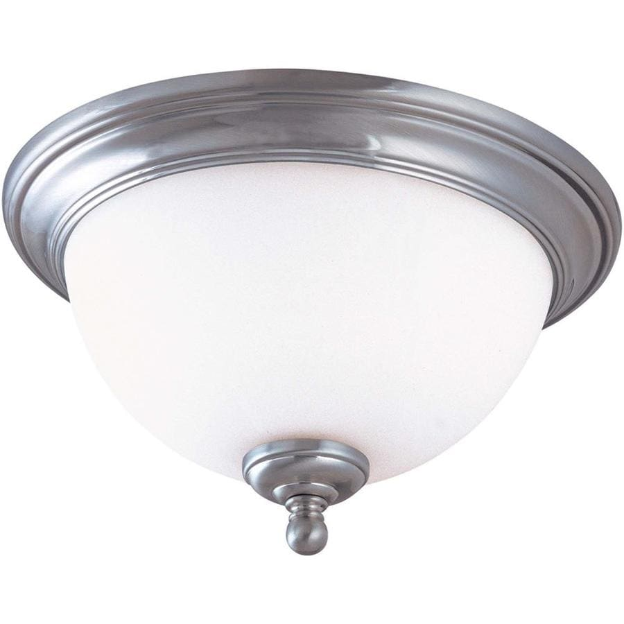 13-in W Brushed Nickel Ceiling Flush Mount Light
