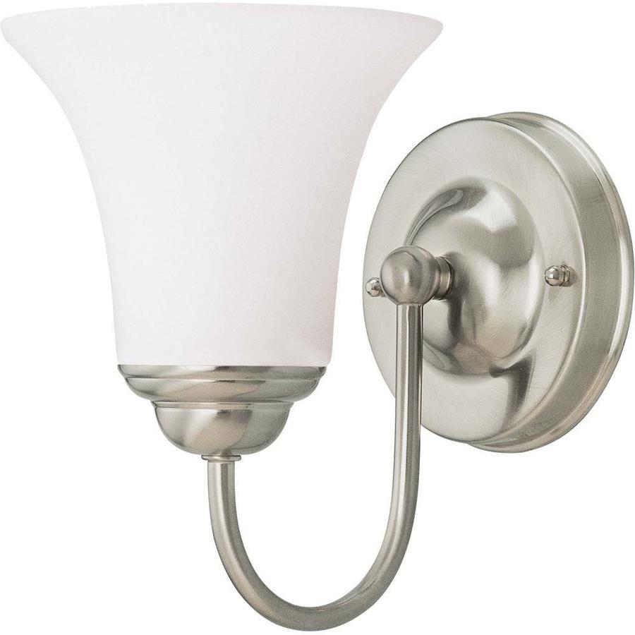 Dupont 1-Light Brushed Nickel Vanity Light