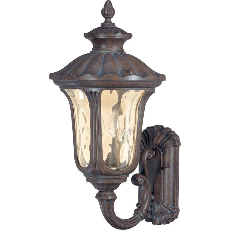 19.36-in H Fruitwood Bronze Outdoor Wall Light