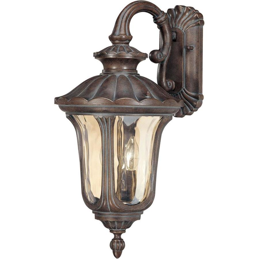 22.54-in H Fruitwood Bronze Outdoor Wall Light