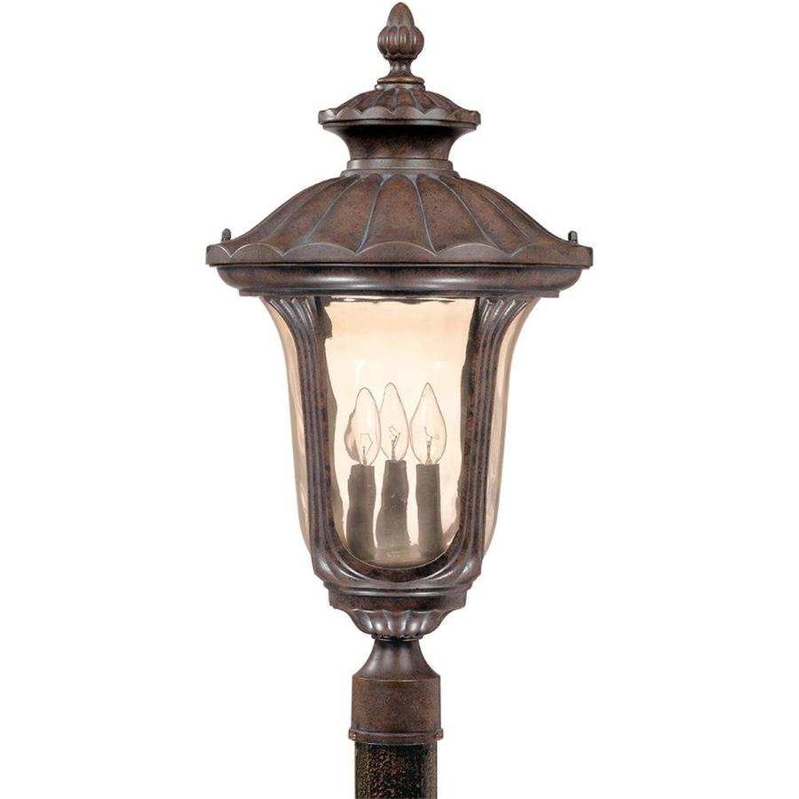 15.68-in W Fruitwood Outdoor Flush-Mount Light