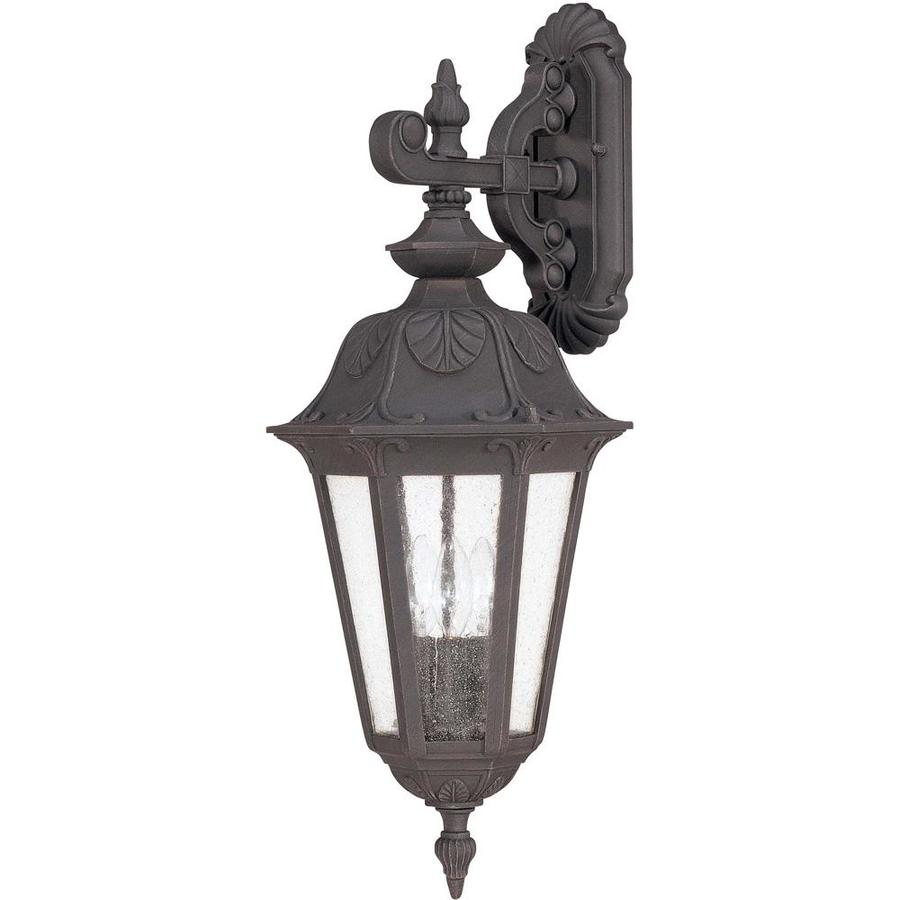 26.47-in H Satin Iron Ore Outdoor Wall Light