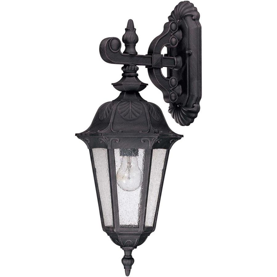 22.54-in H Satin Iron Ore Outdoor Wall Light