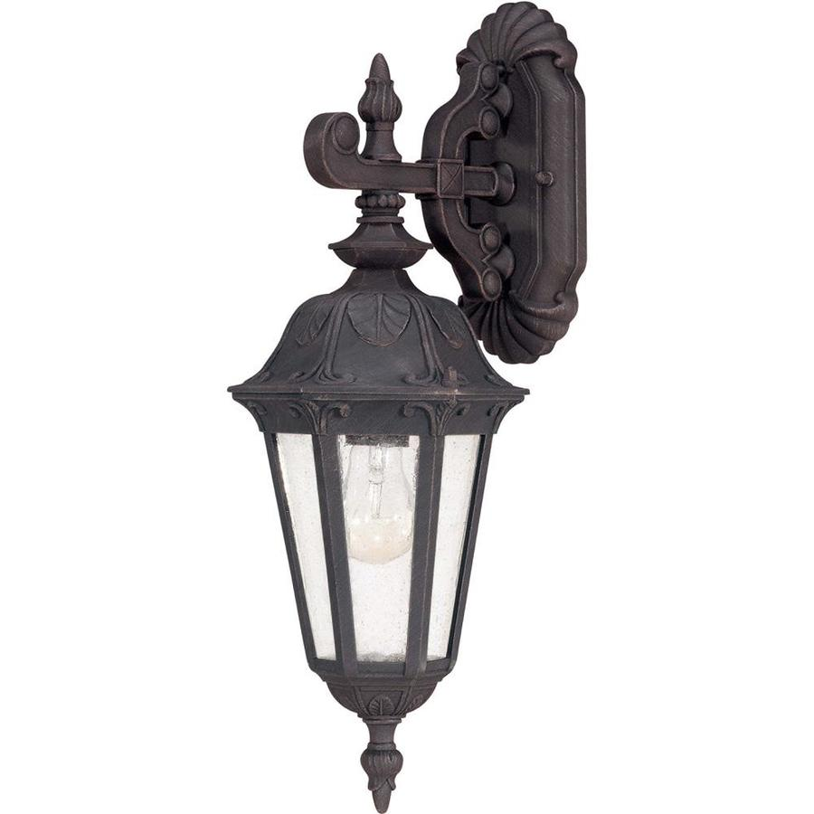 20.83-in H Satin Iron Ore Outdoor Wall Light