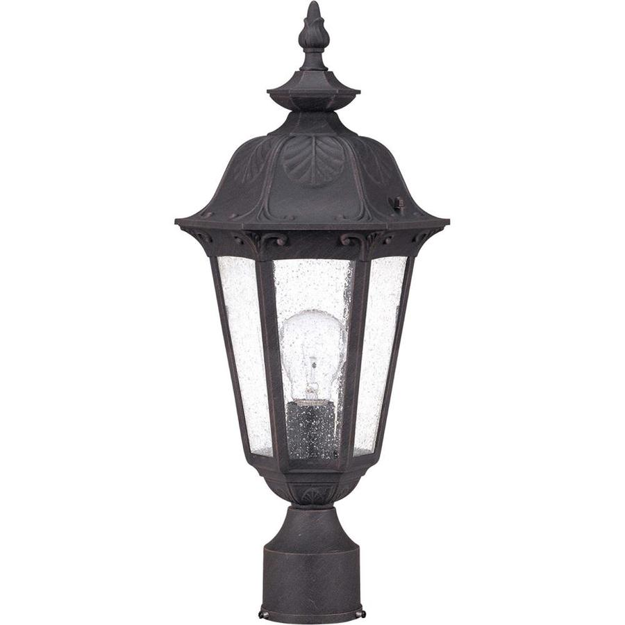 9.8-in W Satin Iron Ore Outdoor Flush-Mount Light