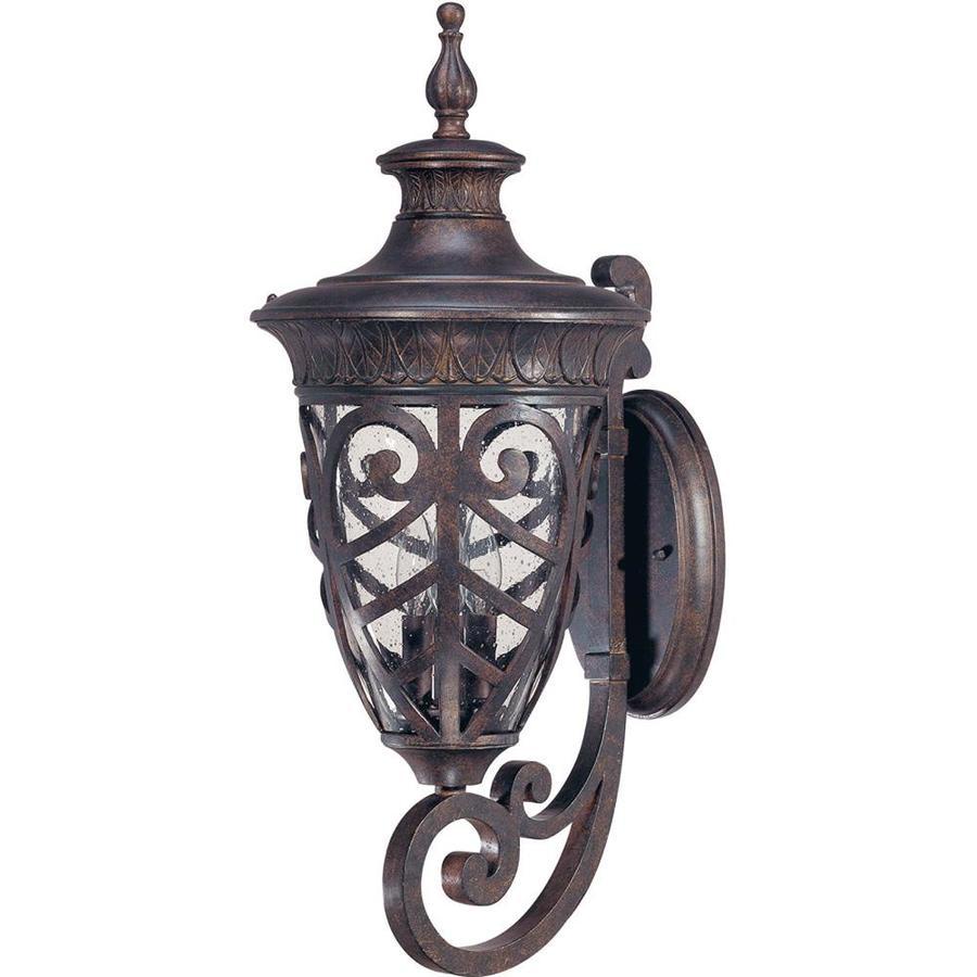 24.87-in H Dark Plum Bronze Outdoor Wall Light