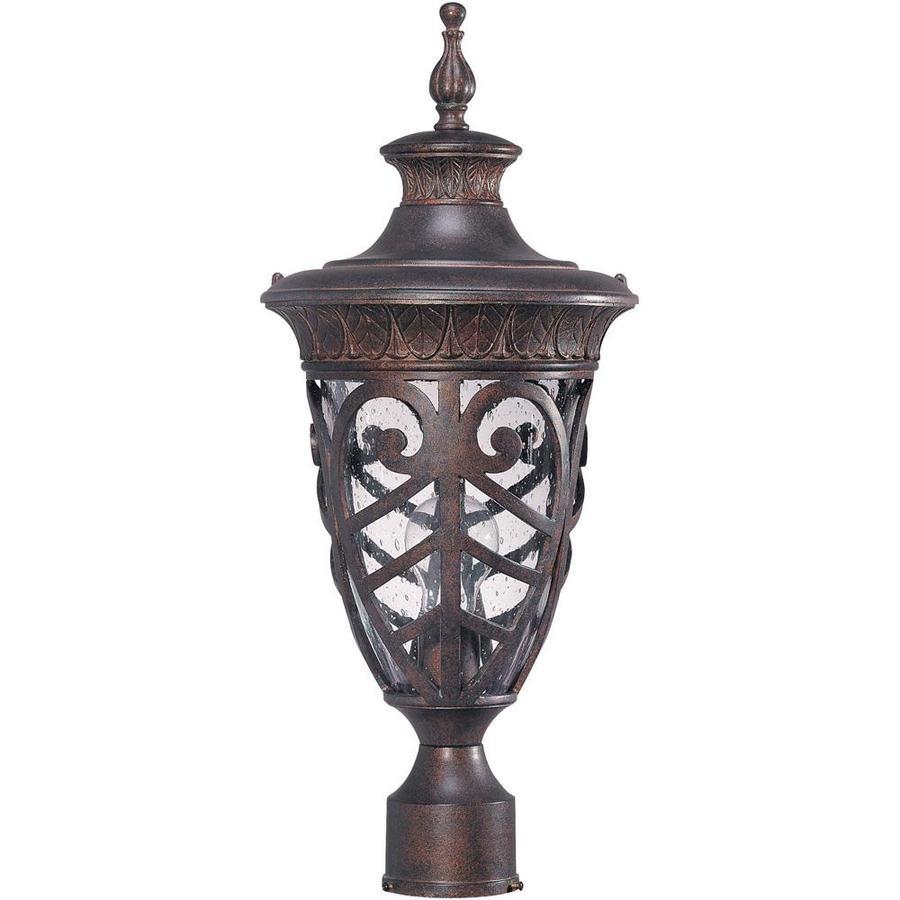 11.15-in W Dark Plum Bronze Outdoor Flush-Mount Light